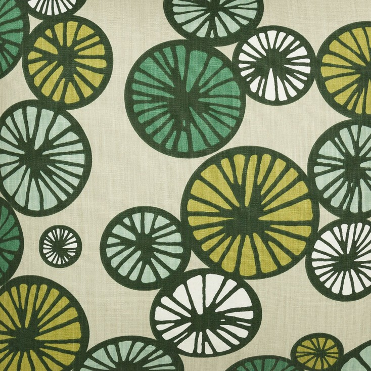 Scandinavian Fabric - Spira Taro Green