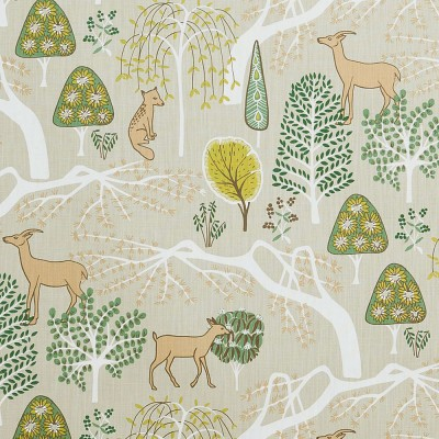 Scandinavian Fabric - Spira Sagoskog Green