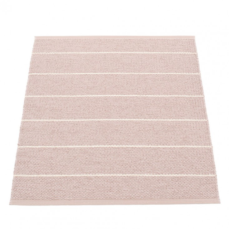 Pappelina Carl Small Mat - Pale Rose Side