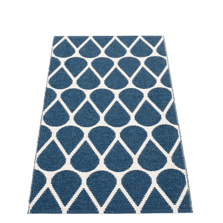 Pappelina Otis Runner - Ocean Blue & Vanilla - 70 x 140 cm