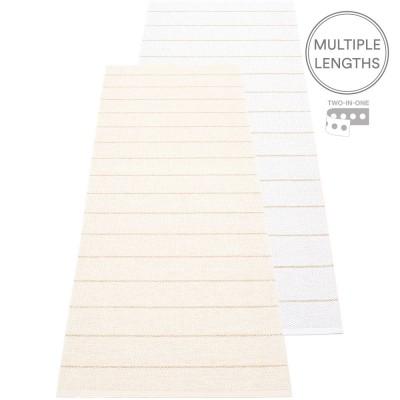 Pappelina Carl Runner - Vanilla & White 70 x 180 cm