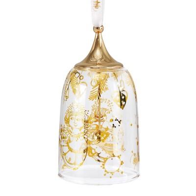 Bjorn Wiinblad Glass Christmas Ornament - Bell