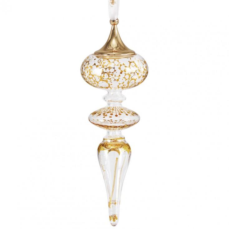 Bjorn Wiinblad Glass Christmas Ornament - Icicle