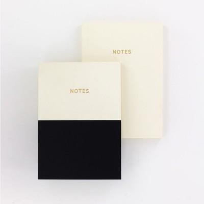 Colourblock A6 Notebook Set of 2 - Mono