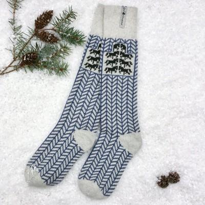 Öjbro Swedish Wool Socks - Gotland Blue