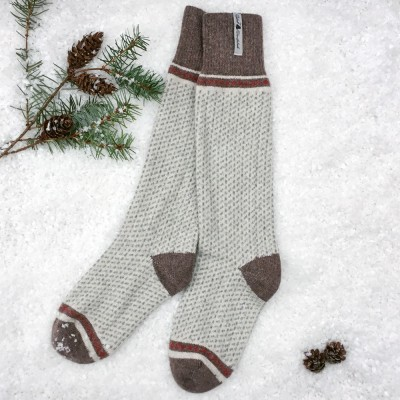 Öjbro Swedish Wool Socks - Skaftö Sno