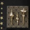 Antique Gold Bonbon Glass Decoration - 15 cm