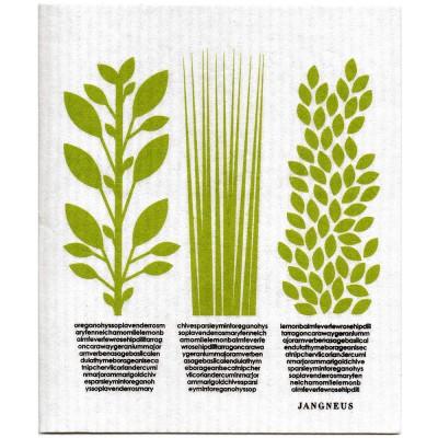 Jangneus Green Herbs Dishcloth