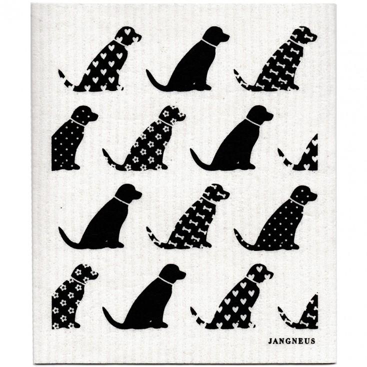 Jangneus Black Dog Dishcloth
