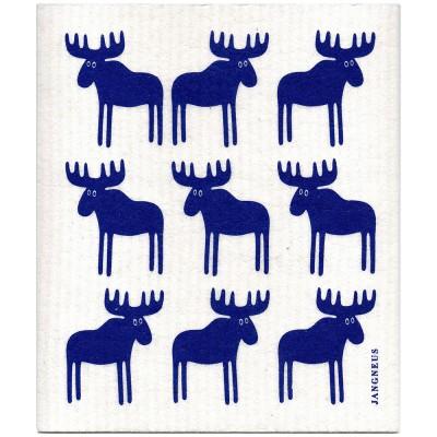 Jangneus Blue Moose Cellulose Dishcloth
