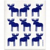 Jangneus Blue Moose Dishcloth