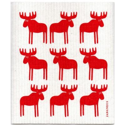 Jangneus Red Moose Cellulose Dishcloth