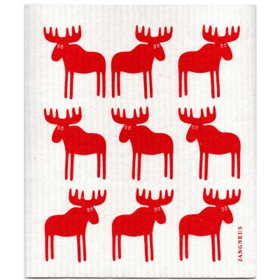 Jangneus Red Moose Dishcloth