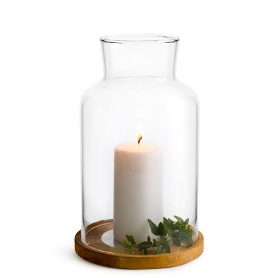 Sagaform Medium Oval Oak Candle Holder