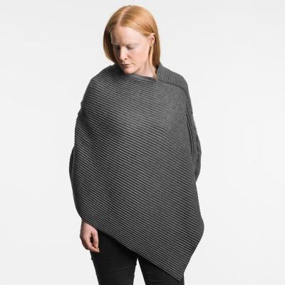 Design House Stockholm Short Pleece Poncho - Dark Grey