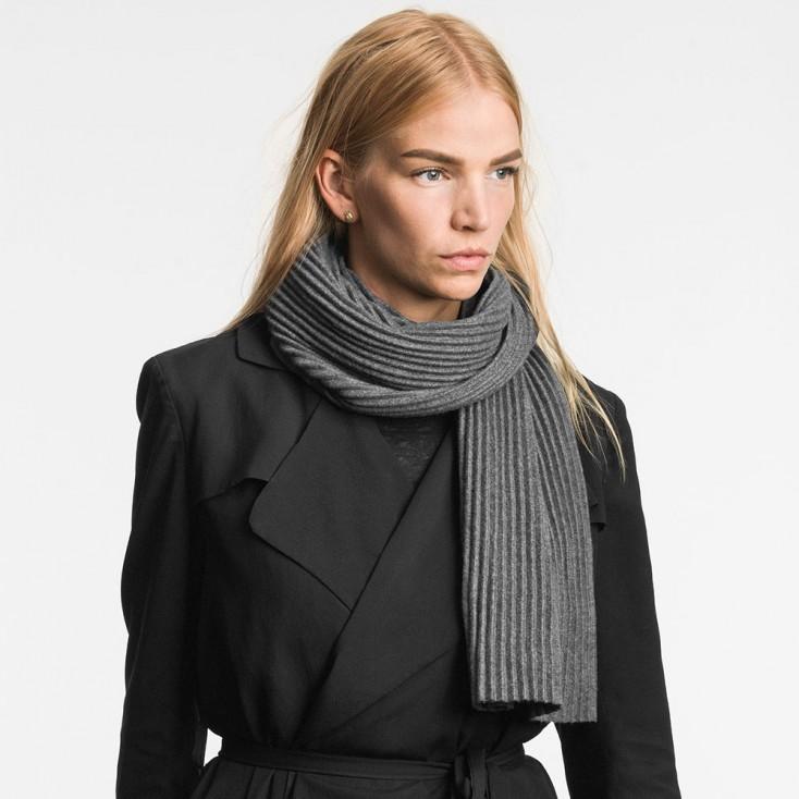 Design House Stockholm Short Pleece Scarf - Dark Grey