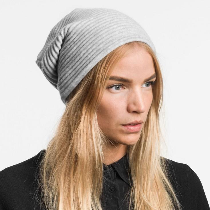 Design House Stockholm Pleece Beanie Hat - Light Grey