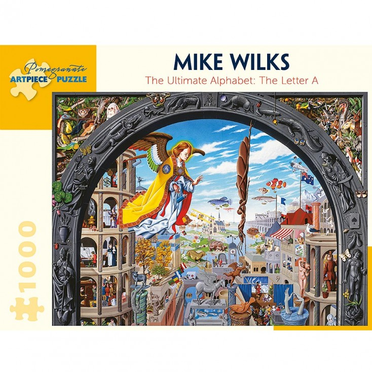 Pomegranate Mike Wilks The Ultimate Alphabet : The Letter A 1000 Piece Jigsaw