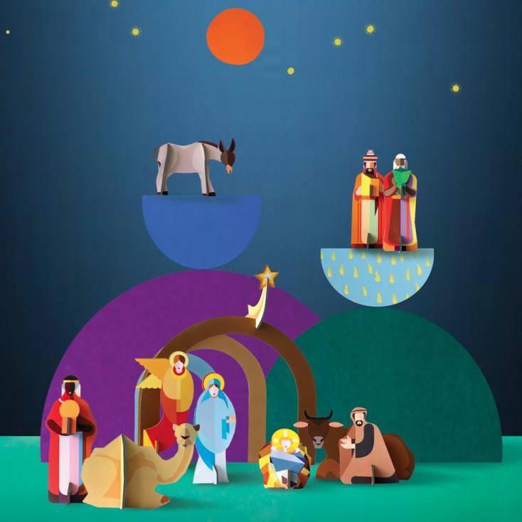 Studio ROOF Pop-Out Nativity Scene