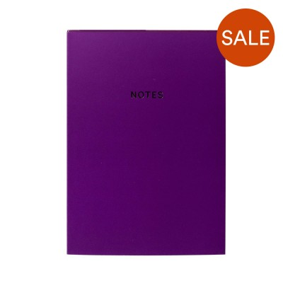 Colourblock A5 Notebook - Rich Plum