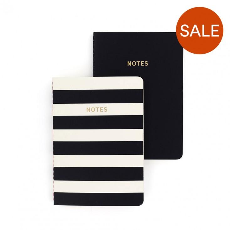 Colourblock A6 Notebook Set of 2 - Mono Stripe
