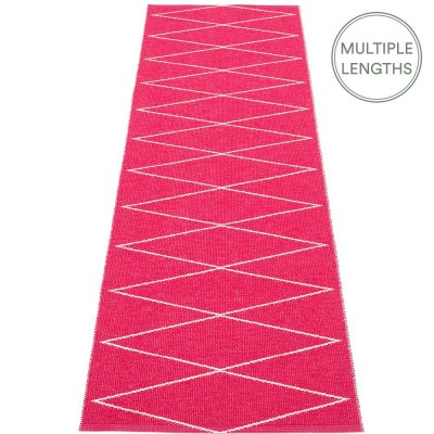 Pappelina Max Runner Cherry Pink & Vanilla - 70 x 240 cm