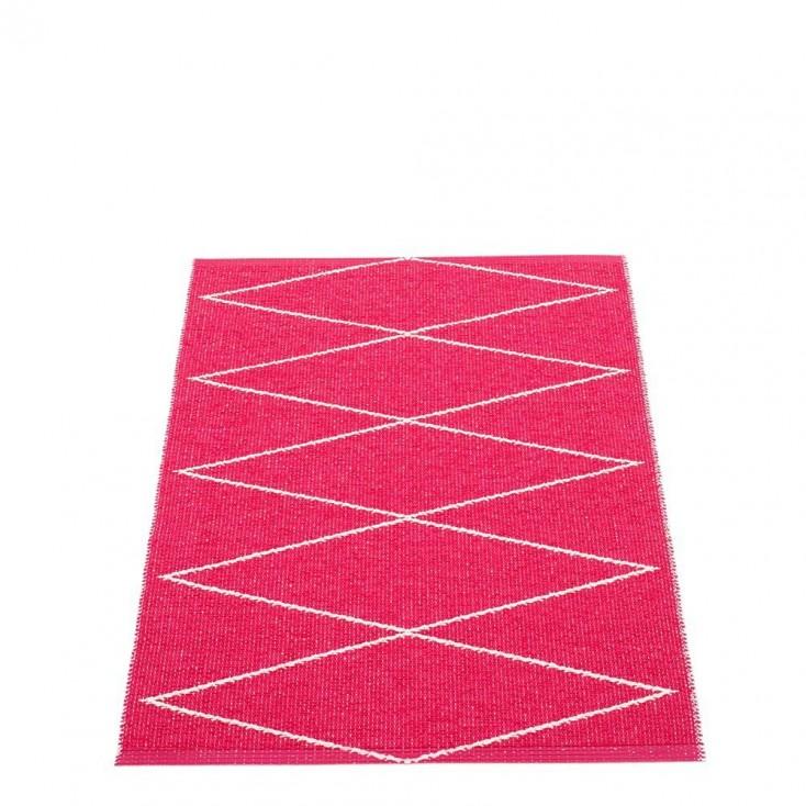 Pappelina Max Runner Cherry Pink & Vanilla - 70 x 100 cm