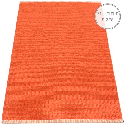Pappelina Mono Large Rug - Pale Orange