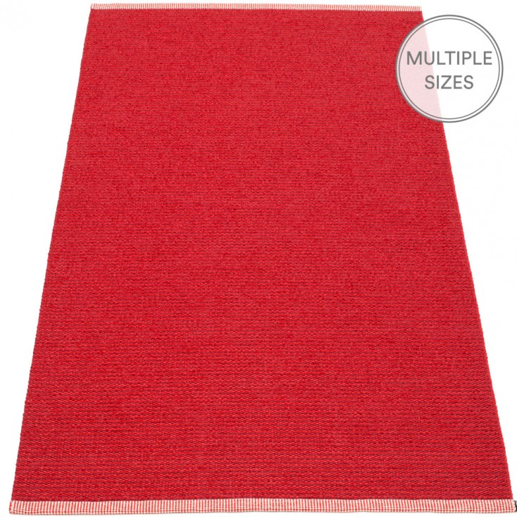 Pappelina Mono Large Rug - Dark Red