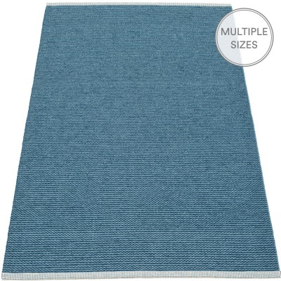 Pappelina Mono Large Rug - Ocean Blue