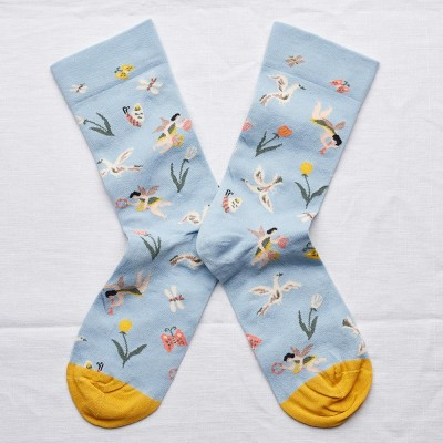 Bonne Maison Socks - Celestial Blue Angel