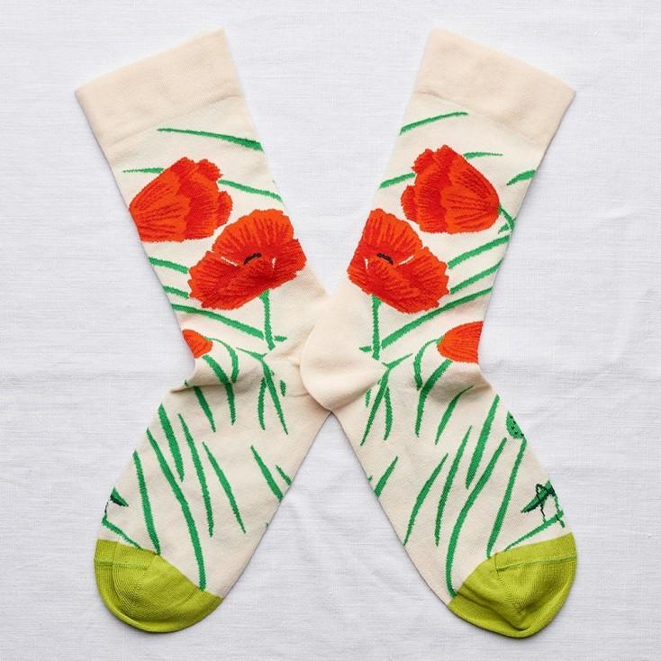 Bonne Maison Socks - Natural Poppy