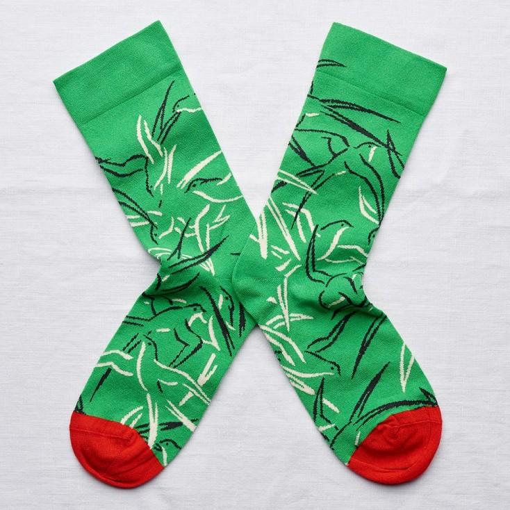 Bonne Maison Socks - Apple Green Swallow