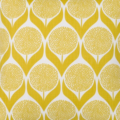 Remnant - Blomma Lime Yellow Fabric