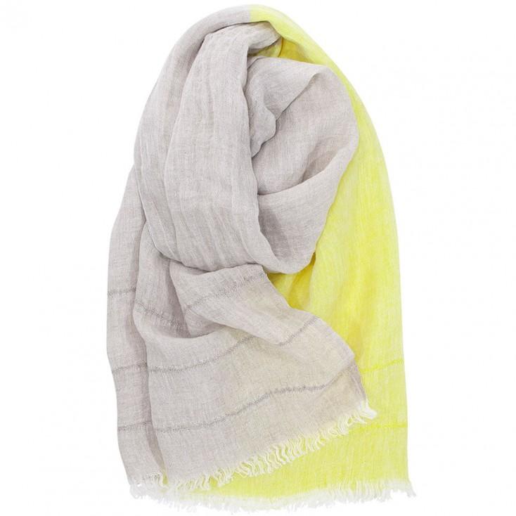 Lapuan Kankurit Tsavo Scarf - Linen & Yellow