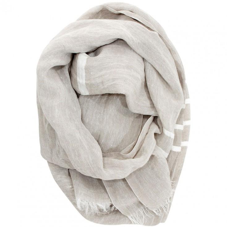 Lapuan Kankurit Usva Scarf - Linen & White