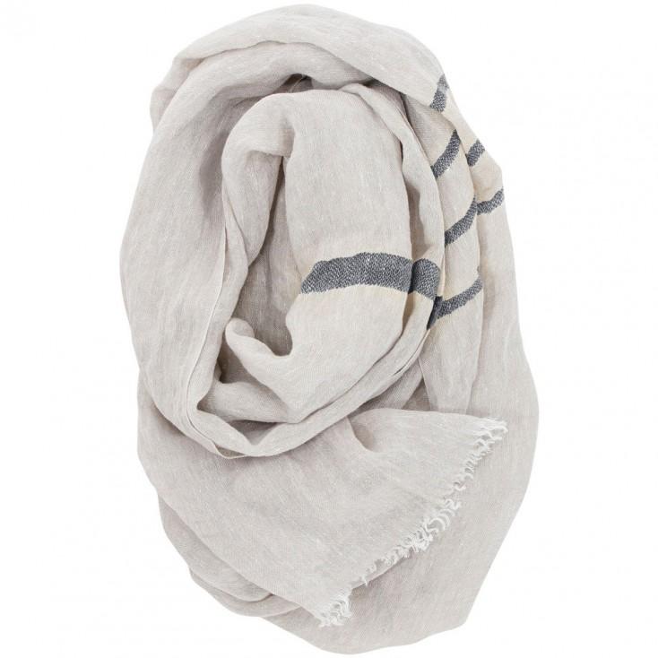 Lapuan Kankurit Usva Scarf - Linen & Grey