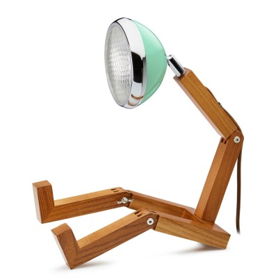 Mr. Wattson LED Table Lamp - Tiffany Green