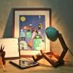 Mr. Wattson LED Table Lamp - Tiffany Green