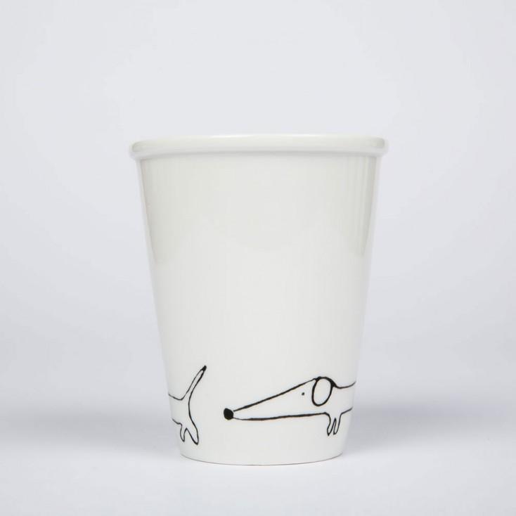 Helen B Porcelain Beaker - Dachshund