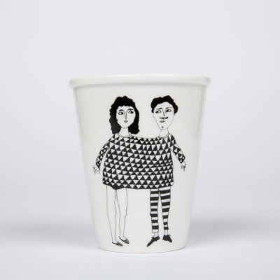 Helen B Porcelain Beaker - Happy Together