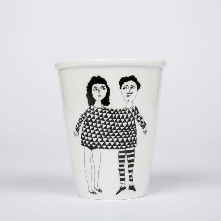 Helen B Porcelain Beaker - Happy Together