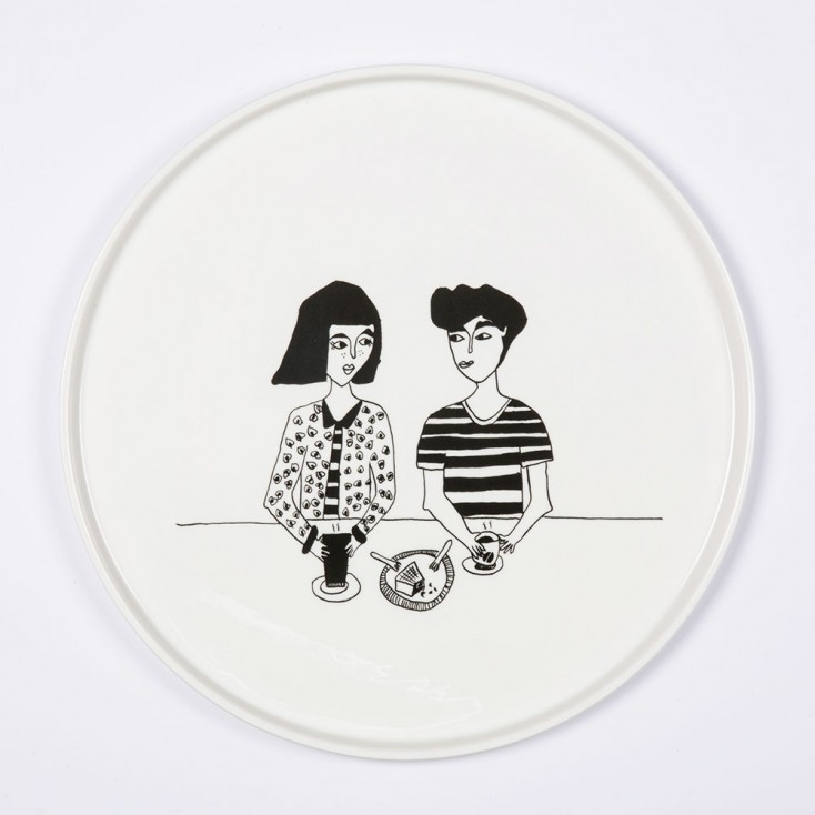 Helen B Porcelain Plate - Naked Couple