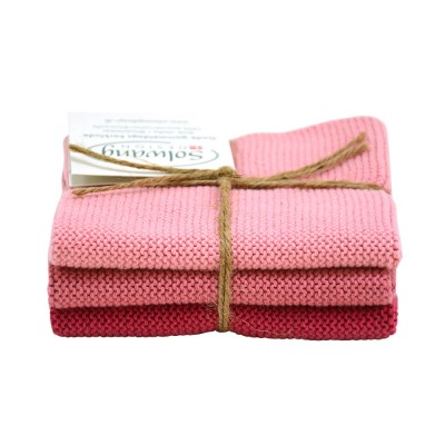 Danish Cotton Dishcloth Trio - Antique Rose