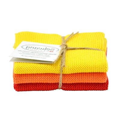 Danish Cotton Dishcloth Trio - Sunshine