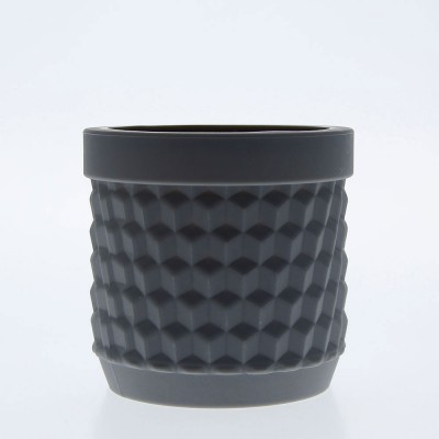 Silicone Flower Pot - Dark Grey