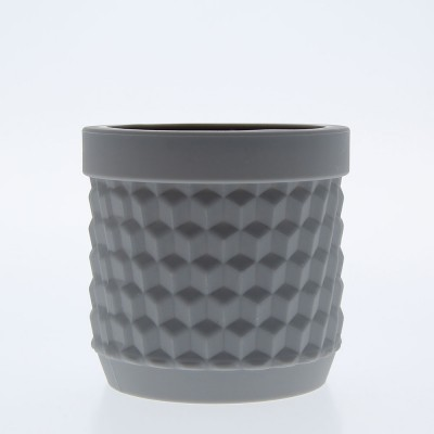 Silicone Flower Pot - Light Grey