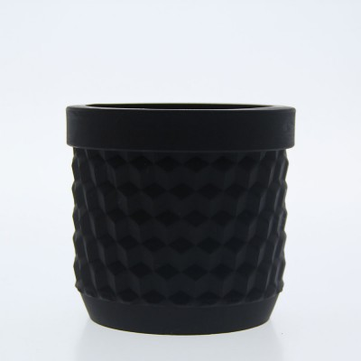 Silicone Flower Pot - Black