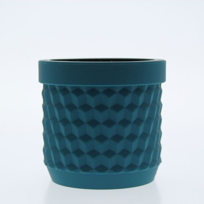Silicone Flower Pot - Petrol