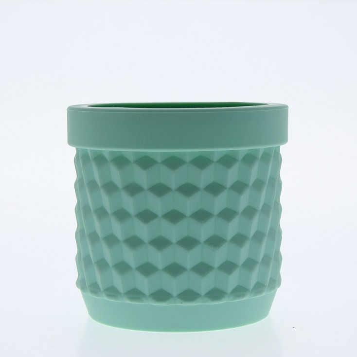 Silicone Flower Pot - Light Turquoise